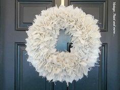 Vintage, Paint and more... Burlap Wreath