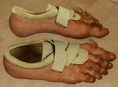 These give a whole new meaning to footwear .