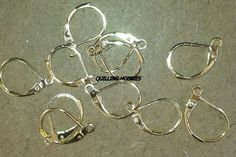 QH010....RS 8/PAIR...Brass Lever Back Hoop Earrings Golden, about 10mm wide, 15mm long,