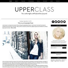 Premade Blogger Template  Instant Download  by ShinyMagic on Etsy, $30.00