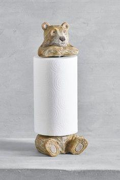 Buy Bear Kitchen Roll Holder from the Next UK online shop Cutlery Caddy, Cutlery Storage, Kitchen Tops, Buy Kitchen, Kitchen Roll Holder, Bear Character, Coaster Holder, Egg Holder, Oven Glove