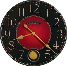 Rustic Wall Clock - Red & Black Large by Howard Miller Clocks