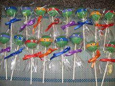Cake Pops / Cake Balls - Teenage Mutant Ninja Turtles cake pops.