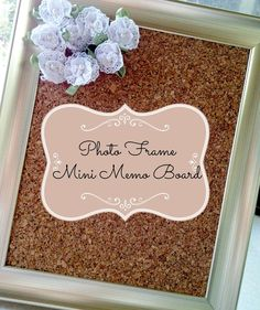 LoveNote Crafts: Shabby Chic Desk Memo Board