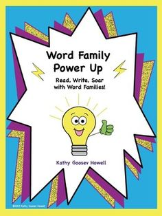 Power up student success with word families. Unlock the mystery of reading new words and spelling words that sound alike. Give students a powerful insight into how English spelling works with the ability to see, hear, and use rimes in reading and writing. $