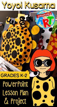 Yayoi Kusama Pumpkin Project for Younger Artists Kids Art Class, Art Lessons For Kids, Art For Kids, Kindergarten Art Lessons, Art Lessons Elementary, Yayoi Kusama Pumpkin, 2nd Grade Art, Jr Art, Pumpkin Art
