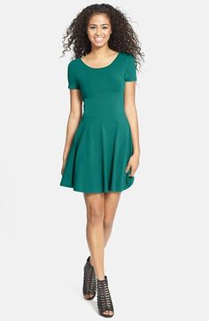 BP. Scoop Back Skater Dress (Juniors) available at #Nordstrom