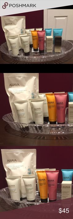 🆕🔥AHAVA Bundle!! Free gift with Buying Bundle🆕 AHAVA Natural Dead Sea Salts sels De Bain Naturels ---  8.5 Oz  1-   Body Lotion-     1.3. Oz  4-  Dead Sea Mineral Hand Cream -   6.8 Oz  4-   Time to Hydrate Essential Day Moisturizer   1-    AHAVA Mineral Hand Cream -  1.3. Oz  1-    Extreme. night. Treatment Reduce wrinkles and Firms the skin----  0.17 Oz  1-   Dead Sea Concentrate. Moisturizer and radiance boosting Serum Makeup