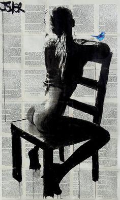 "Saatchi Art Artist Loui Jover; Drawing, ""tranquillity"" #art"