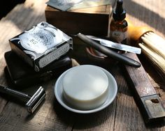 Handmade shaving soap by Brooklyn Grooming