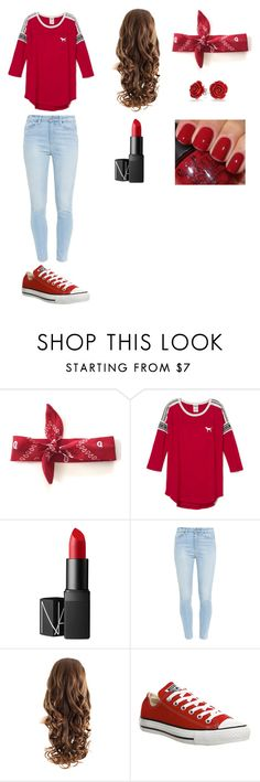 """""""Red pt2"""" by akosheba on Polyvore featuring Ryder, NARS Cosmetics, Paige Denim, Converse and Bling Jewelry"""