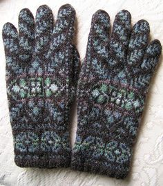 Ravelry: lacegarden's Shetland Black Gloves