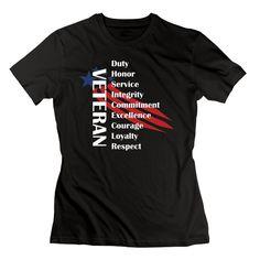 Amazon.com  TASY Women s Veterans Day To Be Honor 100% Cotton T-shirt - XXL  Black  Clothing d5c6602b4a