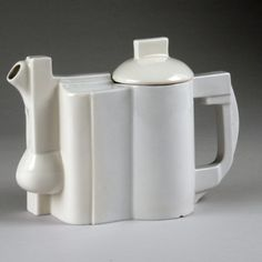 Kazimir Malevich (Russian, 1878-1935)/ State Porcelain Factory (Russia) Suprematist Teapot