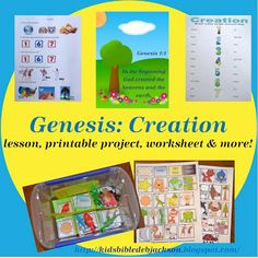 Bible Fun For Kids: Genesis Series: Creation This blog has a ton of Bible Lessons to teach at home!