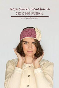 1920s Rose Swirl Headband - Free Crochet Pattern