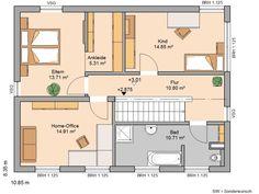 Kern-Haus Bauhaus Etos Grundriss Obergeschoss