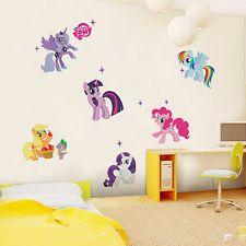 Cuarto De Niños Decoración Cartoon Pony Caballo hágalo usted mismo extraíbles pegatinas de pared Vinilo Arte calcomanías