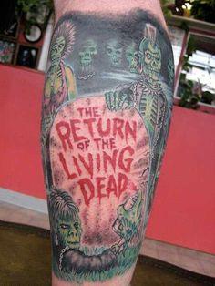 Awesome Return of the Living Dead tattoo Zombie Tattoos, Horror Tattoos, Baby Tattoos, Tatoos, Zombie Girl, Tattoo Designs, Tattoo Ideas, Skin Art, Body Mods