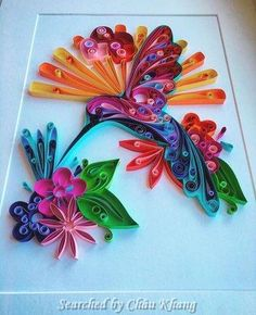 © Carla Bagshaw- Quilling about flowers and animals (Searched by Châu Khang)
