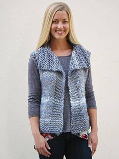 """Diy Crafts - Garter Yoke Vest Pattern (Knit) """"This post was discovered by Jul"""", """"Yarn and Patterns for Knitting and Crochet"""" Knitting Patterns Free, Knit Patterns, Free Knitting, Knitting Yarn, Knit Vest Pattern, Swing Coats, Knitted Gloves, Pulls, Knit Cardigan"""