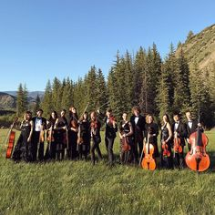 Two days ago I performed at one awesome wedding next to Aspen, in Snowmass. The team of @BlueBirdProductions hired my 16 piece @NewYorkVirtuosi Orchestra to perform during dinner service and during wedding ceremony. We were not performing Mozart, but Adele, Coldplay, Nirvana and Daft Punk to name a few. It was a well organized event in the middle of mountains! 💙🐝❄️🎶 #whenyourdreamscometrue #luxurywedding #weddingmusic