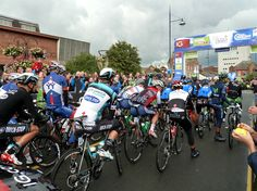 ready for the off... Tour of Britain 2013