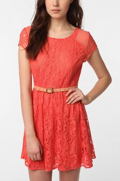 Coral Lacey Dress