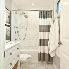 Is a One Minute Bathroom Remodel Possible? Stunning Shower Curtains Make It So! — DESIGNED w/ Carla Aston