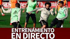 Real Madrid - Real Sociedad   Entrenamiento del MADRID en DIRECTO   Diar... Real Madrid Club, Zidane, Baseball Cards, Daily Journal, Training, Sports