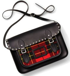 The Cambridge Satchel Company Satchel - Tartan with Studs Handbags - Bloomingdale's Cambridge Bag, Tartan Fashion, Studded Handbags, Devil Wears Prada, Box Bag, Dope Fashion, Cute Bags, Tartan Plaid, Vintage Handbags