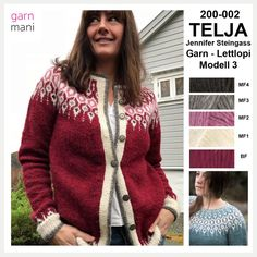 200-002 TELJA - Lettlopi - Modell 3 Knitted in Lettlopi Ravelry, Wool, Sweaters, Pink, Inspiration, Black, Design, Fashion, Threading