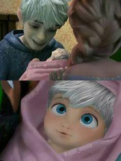 Jack meeting his baby