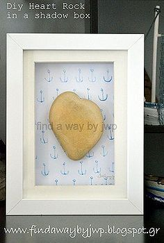 Most of us had found on the beach pebbles that look like something. I think heart is the most familiar shape. And, this huge beige heart-shape stone was discove… Mother Daughter Projects, Teacup Candles, Drop Cloth Curtains, Diy Plant Stand, Stick On Tiles, Giant Paper Flowers, Stone Heart, Diy Pillows, Pillow Forms