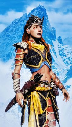 Horizon Zero Dawn Aloy, Devil May Cry, Beautiful Ladies, Fantasy Characters, Game Art, Videogames, Samurai, Cute Girls, Character Art