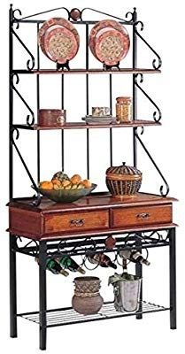 2 Drawer Baker S Rack With Wine Rack Tobacco With Images