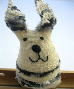 Sweet rabbit handwoven doll by ERGANIweaving on Etsy, $10.00