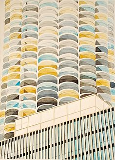 Love these watercolours by Amy Park of architecture - Gold Goldberg, Chicago Architecture Drawings, Architecture Details, Marina City, Really Cool Drawings, Art For Art Sake, Color Of Life, Contemporary Paintings, Facade, Park