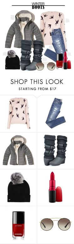 """""""Winter Boots."""" by southernautumn ❤ liked on Polyvore featuring Oasis, Hollister Co., UGG, MAC Cosmetics, Chanel, Prada and winterboots"""