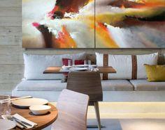 """Riesige abstrakte Gemälde von Dan Bunea: """"Escape"""", 200x100cm oder 80x40in, Acryl auf Leinwand, zu verkaufen, Seiten 2.6 oder 6 cm auch lackiert"""