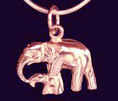 Rose Gold Plated Sterling Silver Charm Pendant Family Baby Mom Elephant Jewelry   eBay