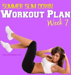 Summer total-body slim down program for FREE! Cardio and strength workouts you can do at home from Tone-and-Tighten.com