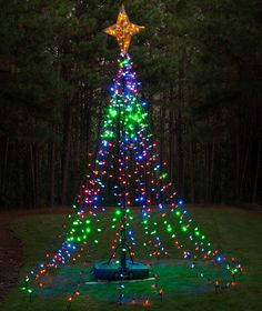 How to make a mega tree with christmas lights christmas diy christmas ideas make a tree of lights using a basketball pole mozeypictures Image collections