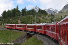 Il trenino rosso del Bernina con bambini, una meravigliosa avventura da vivere in famiglia per superare una montagna e ammirare paesaggi mozzafiato.
