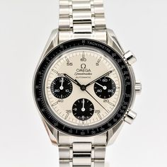 Omega Speedmaster Marui Panda Dial Vintage Rolex, Vintage Watches, Timing Is Everything, Omega Speedmaster, Chronograph, Omega Watch, Rolex Watches, Panda
