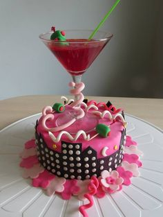 Martini birthday cake