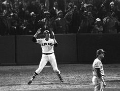 Carlton Fisk Waves A World Series Home Run Fair, Red Sox 1975...One of my favorite baseball moments of all time!