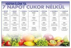 (Kattints a képre a nagyításért!) Nyomtasd ki és tedd a hűtőre! Healthy Chicken Recipes, Diet Recipes, Healthy Drinks, Healthy Snacks, Yoga Training, Health And Wellness Center, Healthy Eating Guidelines, Paleo, Health Trends