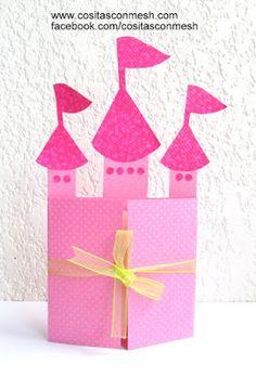 Cómo hacer tarjeta de cumpleaños inspirado en princesas ~ cositasconmesh