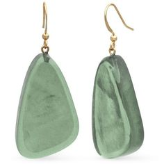 Kim Rogers Gold Gold-Tone Turquoise Resin Earrings ($9.80) ❤ liked on Polyvore featuring jewelry, earrings, gold, gold colored jewelry, turquoise gold jewelry, gold colored earrings, green turquoise jewelry and turquoise earrings jewelry